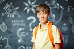 Pupil. Happy pupil looking at camera with smile Stock Images