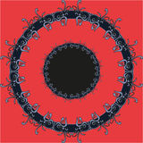 Pupil  mandala  red pattern  round eye ornament Stock Photos