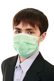 Pupil in a medical mask Stock Images
