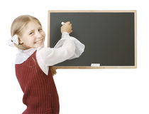The pupil near a blackboard Stock Photography