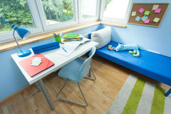 Pupil room from the inside. View of pupil room from the inside Royalty Free Stock Photos