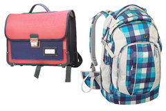 Pupil's bag Royalty Free Stock Photos