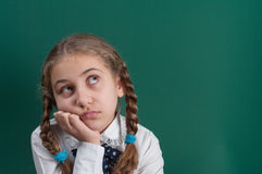 A pupil. At the school board Stock Image