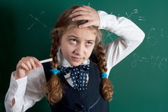 A pupil. At the school board Stock Photography