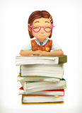 Pupil and school textbooks Stock Photography