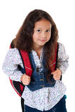 Pupil with schoolbag Stock Photos