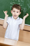 Pupil is shocked that he doesn't know the answer Stock Photo