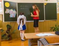 Pupil and teacher Stock Photos