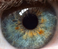 Pupila del ojo humano Imágenes de archivo libres de regalías