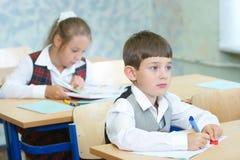 Pupilas em uma classe Foto de Stock