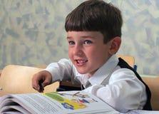 Pupilla & alfabeto Fotografia Stock
