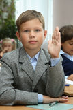 Pupille einer Volksschule stockfotografie