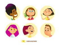 Pupils avatars collection Royalty Free Stock Images