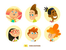 Pupils avatars collection Royalty Free Stock Photo