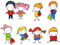 Pupils boys and girls Stock Images
