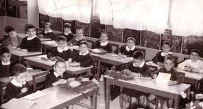 Pupils c.1960 Royalty Free Stock Images