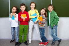 Pupils in class Stock Image