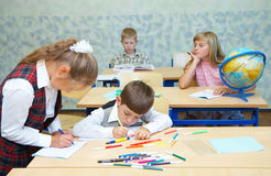Pupils in a class. Children in a class. School change royalty free stock images