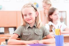 Pupils in classroom Stock Photography