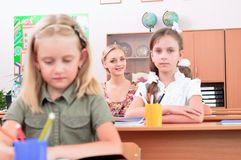 Pupils in classroom Royalty Free Stock Photography