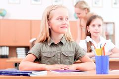 Pupils in classroom Stock Image
