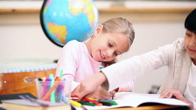 Pupils coloring Royalty Free Stock Photography