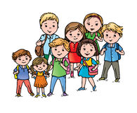 Pupils different ages Royalty Free Stock Image