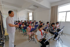 Pupils on erhu lesson Royalty Free Stock Photo