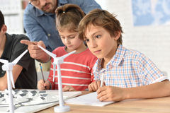 Pupils Learning About Wind Energy Stock Photography