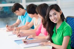Pupils at lesson Royalty Free Stock Images