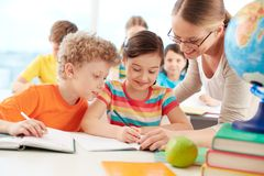 Pupils at lesson Stock Photography