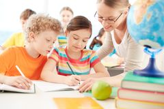 Pupils at lesson Stock Image