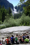 Pupils near Krimml Waterfalls, Austria Royalty Free Stock Photos