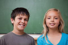 Pupils posing together Royalty Free Stock Photo