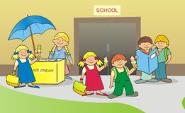 Children before school Stock Image
