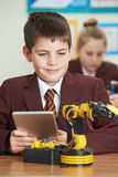 Pupils In Science Lesson Studying Robotics Stock Photos