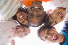 Pupils standing in a circle Royalty Free Stock Photography