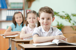 Pupils are very attentive at lessons Royalty Free Stock Images