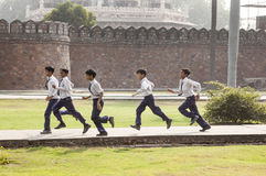 Pupils visit Humayun's Tomb in Delhi Royalty Free Stock Images