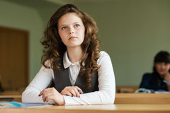 Pupils waiting for a lesson Stock Image