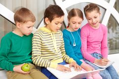 Pupils working Royalty Free Stock Photo
