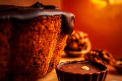A piece of pupkin pie Royalty Free Stock Images