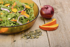 Pupkin salad Stock Image