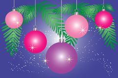 Puple christmas background Royalty Free Stock Image