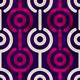 Puple circle seamless pattern. (eps 10 Royalty Free Stock Photo