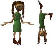 Puppe 3D Lizenzfreie Stockfotos