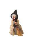 Puppe der Hexe auf getrennt Lizenzfreies Stockfoto
