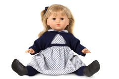 Puppe getrennt auf Weiß Lizenzfreie Stockfotografie