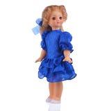 Puppe im blauen Kleid Lizenzfreies Stockfoto