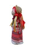 Puppe im nationalen ukrainischen Kostüm auf dem links Stockfotografie